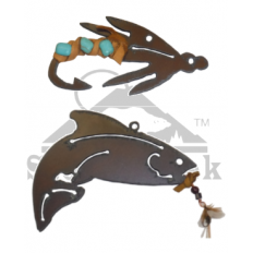 Stone Creek - Metal Christman Ornaments - Set