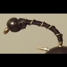 Black Zebra Midge - Bead Head