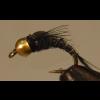 Split Foam Emerger - Black - Bead Head